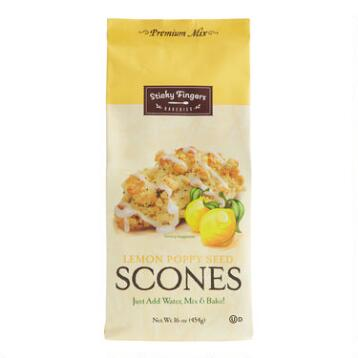 Sticky Fingers Bakeries Lemon Poppy Seed Scones Mix Set of 6
